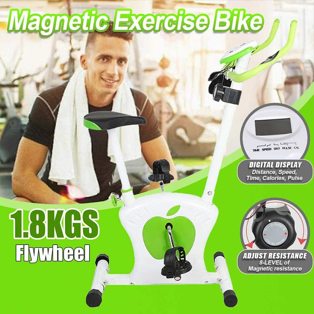 YZT QUEEN Inicio Mini Bicicleta Estática Pantalla LED 8 Niveles De Control Magnético Bicicleta Estática Ejercicio Aeróbico Gimnasio En Casa Gimnasio Bicicleta De Spinning Interior Equipo Deportivo