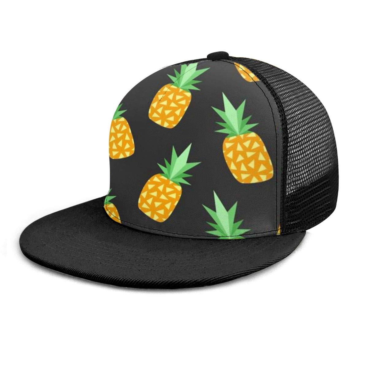 Ry71@Cap Boys and Girls 100/% Polyester Pineapples Mesh Hat Cool Mesh Back Trucker Hat for Unisex