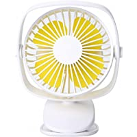 Tubeshine Mini Desk Clip Fan, Handheld Rechargeable USB Table Fans, Battery Operated, Portable Cool for Stroller Office…