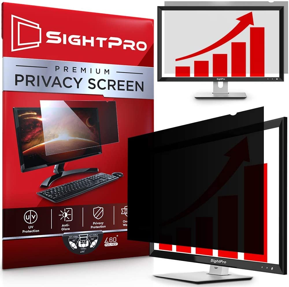 SightPro 27 Inch Computer Privacy Screen Filter for 16:9 Widescreen Monitor - Privacy and Anti-Glare Protector
