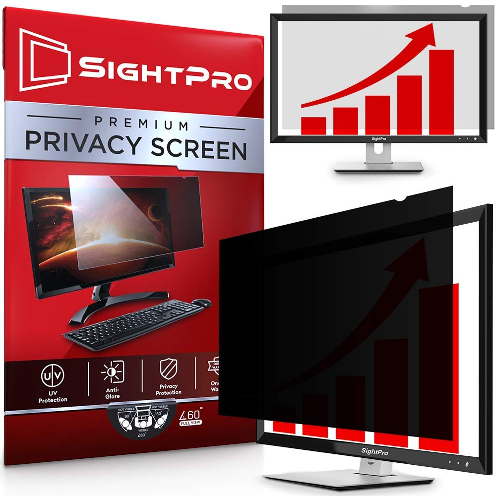 SightPro 21.5 Inch Computer Privacy Screen Filter for 16:9 Widescreen Monitor - Privacy and Anti-Glare Protector