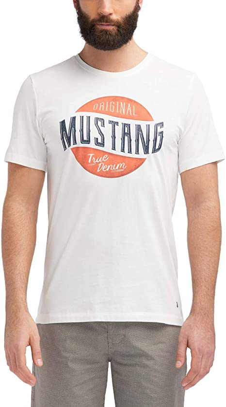 MUSTANG Herren Regular Fit Crack Print Tee