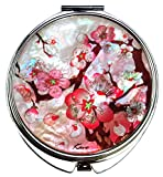 Compact Makeup Mirror Cosmetic Korean Mother of Pearl Lacquered Apricot Tree #33
