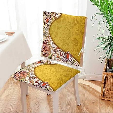 Amazon.com: Miki - Cojín para silla de casa, 2 piezas ...