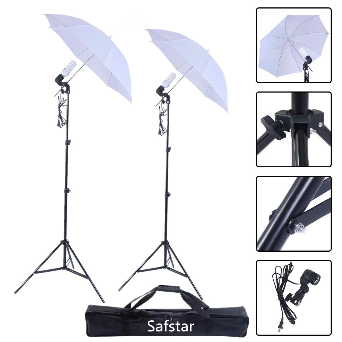 Safstar Photography Studio Video Day Light Umbrella Continuous Lighting Kit Photo Model Portraits Shooting Lights Set of 2 by S AFSTAR