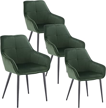sillas tapizada verde