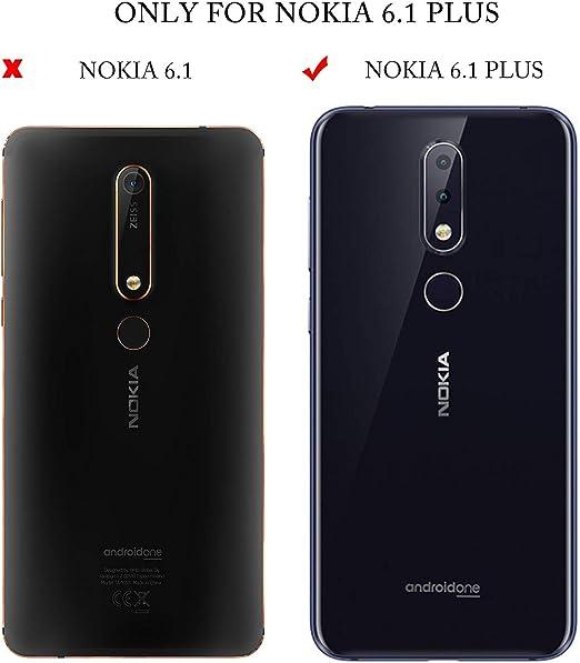KuGi Nokia 6.1 Plus Protector de Pantalla, Cristal Templado Vidrio ...