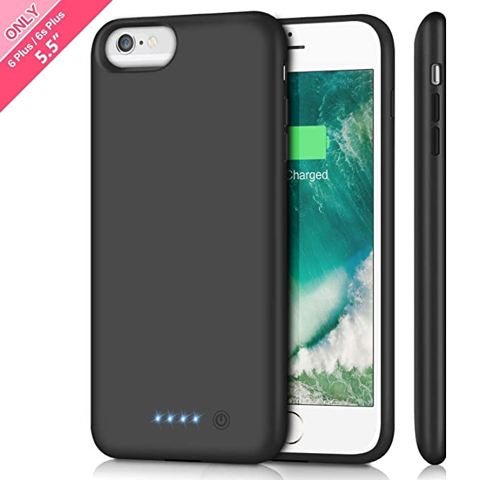 super popular a17b0 8d84c Battery Case for iPhone 6s Plus/ 6 Plus Upgraded 8500mAh Portable  Rechargeable Charger Case for iPhone 6 Plus Extended Battery Pack for  iPhone 6s Plus ...