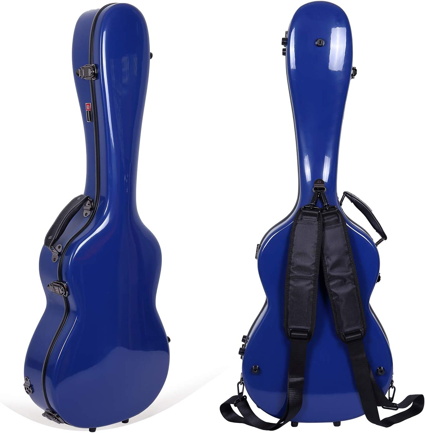 Backpack Style for 4//4 Full Size in Silver Crossrock CRF1000CSL Fiberglass Classical Guitar Case Hardshell