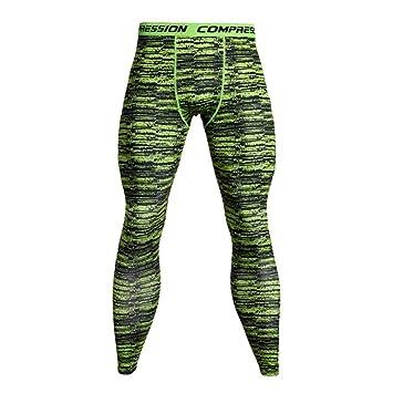 HCKW Pantalones de compresión Mallas para Correr Hombres ...
