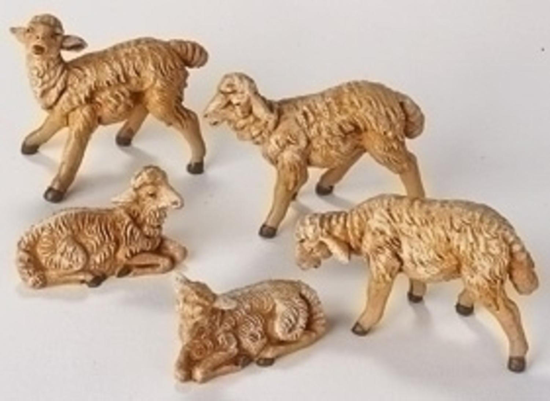 Fontanini by Roman Sheep Nativity Figurine, 5-Piece, 5-Inch Each by Fontanini by Roman