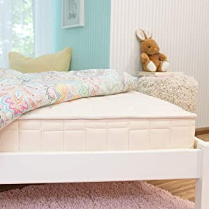 Naturepedic 2-in-1 Organic Kids Mattress, Natural Mattress with Quilted Top and Waterproof Layer, Non-Toxic, Twin Size