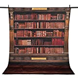 Allenjoy 5x7ft Polyester Photography backdrops Book shelf in Library back to school Graduation season background for photo studio