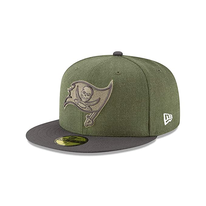 8fc37c9e New Era Tampa Bay Buccaneers On Field 18 Salute to Service Cap 59fifty 5950 Fitted  Limited Edition: Amazon.co.uk: Clothing