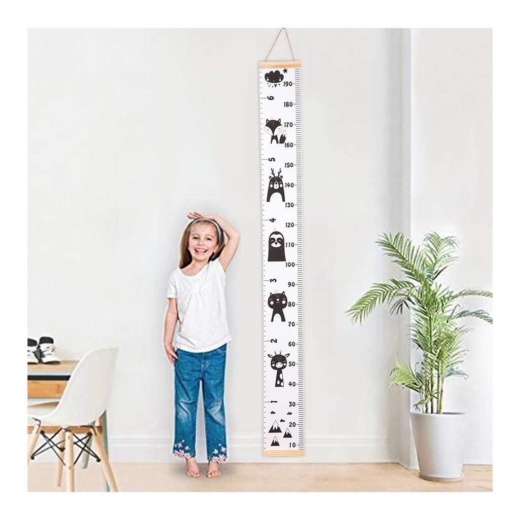 LLLucky Babywachstumstabelle Leinwand Wandbehang Messlineale f/ür Kinder Jungen M/ädchen Raumdekoration Kindergarten Abnehmbare H/öhe und Wachstumstabelle