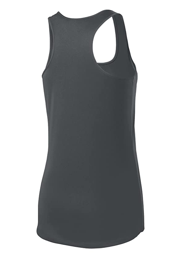 ad312a40ec9838 Amazon.com  Ladies Athletic Moisture Wicking Racerback Tank Tops Workout  Shirts XS-4XL  Clothing
