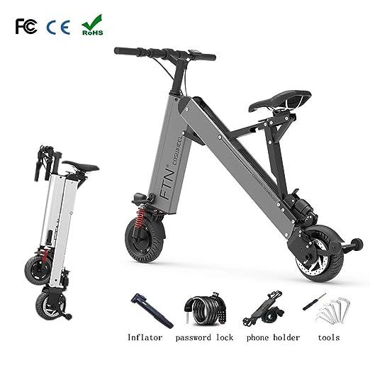 Zhixing Plegable Bicicleta Eléctrica City Montaña Unisex ...