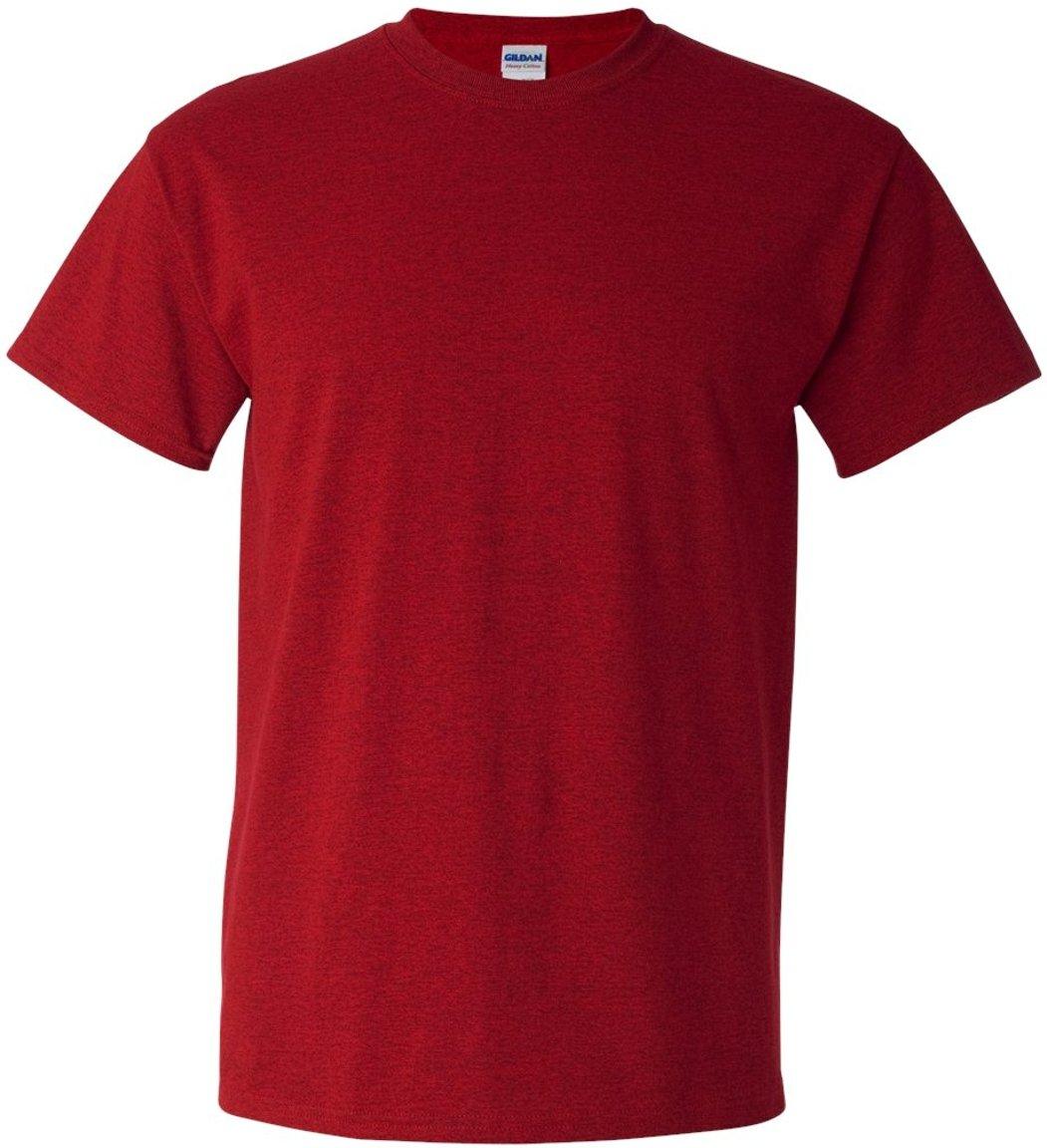 (ギルダン) Gildan メンズ ヘビーコットン 半袖Tシャツ トップス カットソー 定番 男性用 B008WCCA2Y XX-Large レッド レッド XXLarge