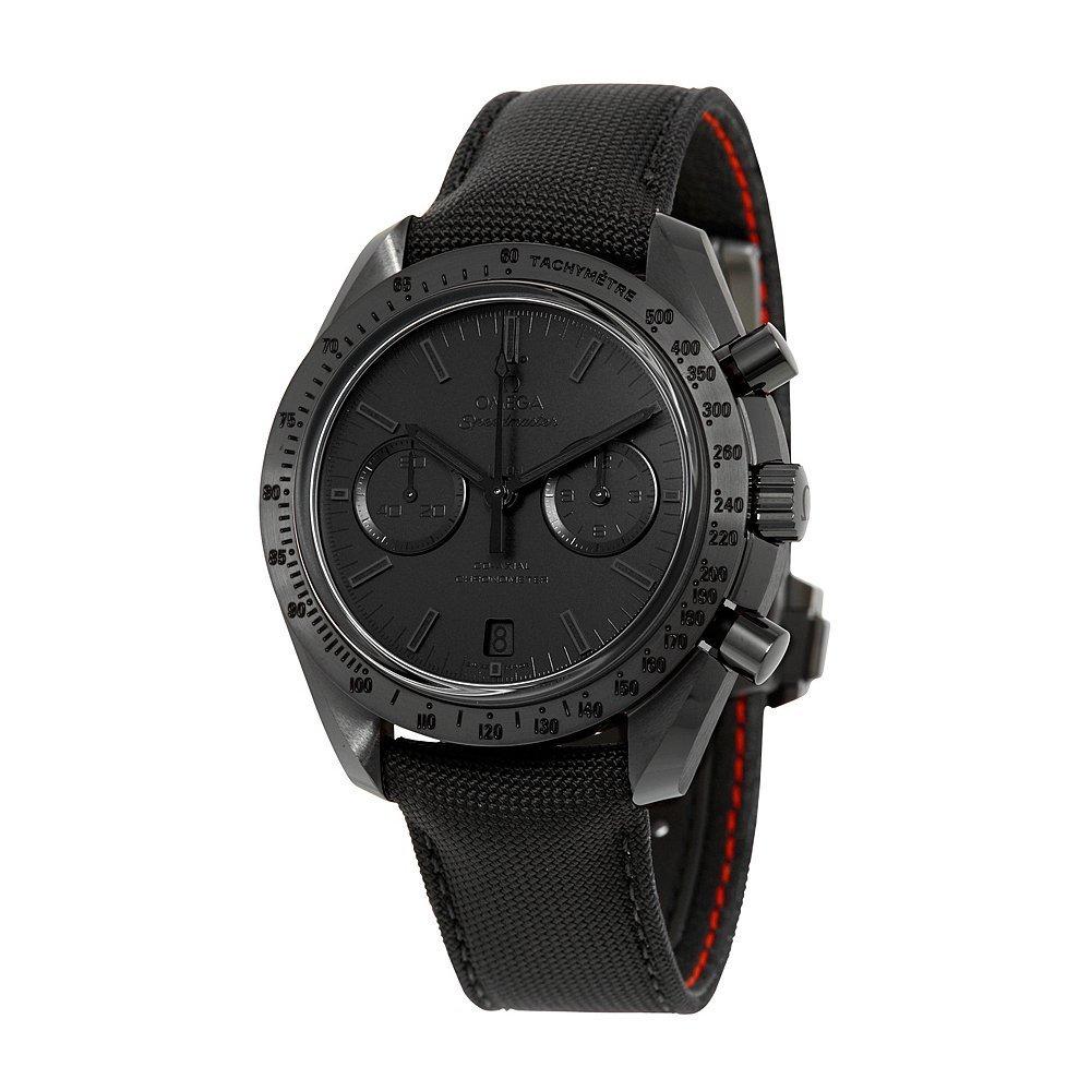 Omega Speedmaster Moonwatch Chronograph Black Dial Black Nylon Mens Watch 31192445101005