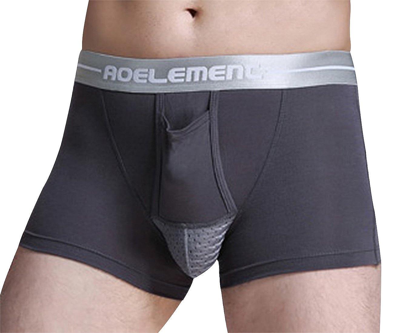 AOELEMENT Men's Underwear Modal Breathable Trunks