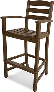 product image for POLYWOOD TD202TE La Casa Café Bar Arm Chair, Teak