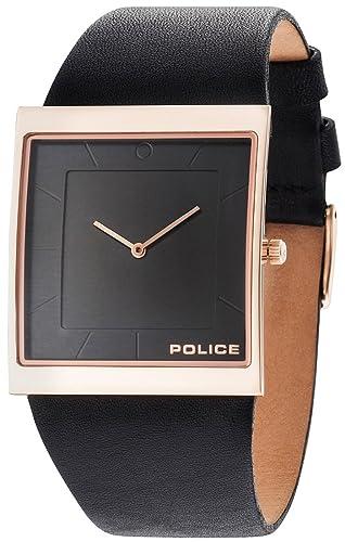 Police Skyline Reloj para Hombre Analógico de Cuarzo con Brazalete de Piel sintética R1451275003: Amazon.es: Relojes
