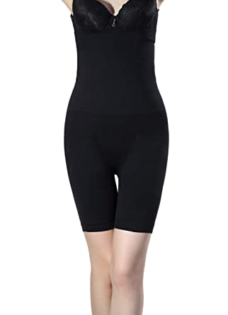940261c5bfb11 Shymay Women s Long Leg Slimmer Higher Power High-waist Mid-thigh Shapewear