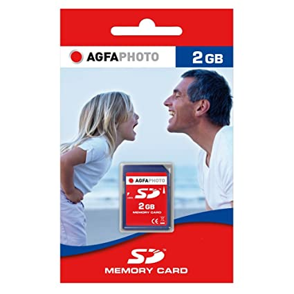 AgfaPhoto SD Memory Cards Memoria Flash 2 GB - Tarjeta de Memoria (2 GB, SD)