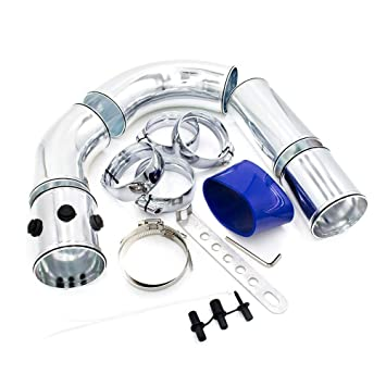 TOOGOO Universal 3 Pulgadas 76Mm Tubo de Admisión de Aire/Kit de Tubo de Admisión de Aleación de Aluminio Turbo Aire Frío Directo Sistema de Inyección de ...