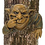 Bits and Pieces – Garden Décor – Nose Picking Elf Tree Hugger – Garden Peeker Yard Art – Whimsical Tree Sculpture Garden Decoration Review