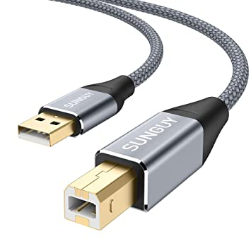 Cable de impresora USB, SUNGUY 2m / 6ft USB 2.0 A macho a B Macho ...