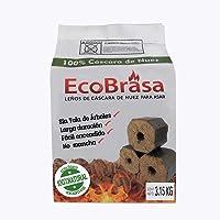 EcoBrasa leños de cáscara de nuez para asar 3.15 KG briquetas para asar
