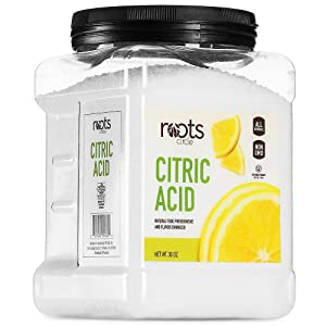 Roots Circle All-Natural Citric Acid | Food-Grade Flavor Enhancer, Household Cleaner & Preservative | Non-GMO, Kosher for Passover, Gluten-Free | For Skincare, Cooking, Baking, Bath Bombs | 30oz