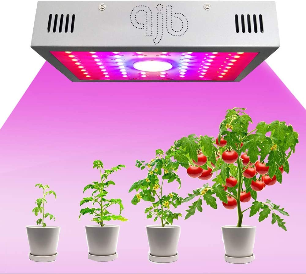 1200W LED Grow Lights, Double Chips Full-Spectrum Indoor Growing Lamp with Veg & RED & Bloom 3 Modes, for Hydroponic, Greenhouse, Indoor Plants Veg and Flower: Home Improvement
