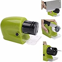Praha Motorized Sharpening Swifty Knives Power Sharpener Precision Scissors Knife Sharp Tool Kitchen Electric Grind Machine (Green)