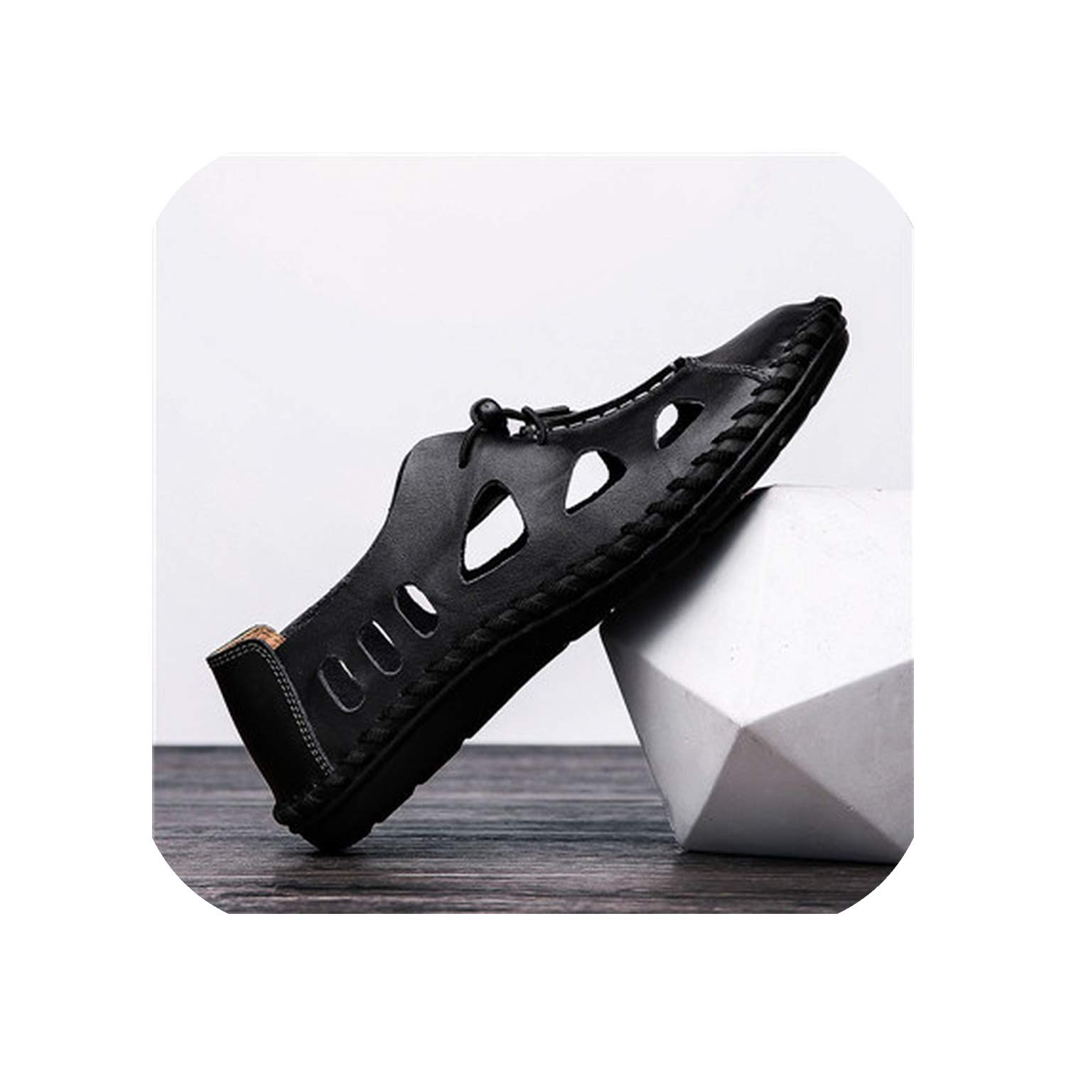 Black Style Sandals Breathable Hole Outdoor Men shoes