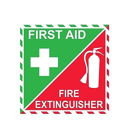 RTCH 13cm x 13cm Primeros Auxilios Extintor de Incendios ...