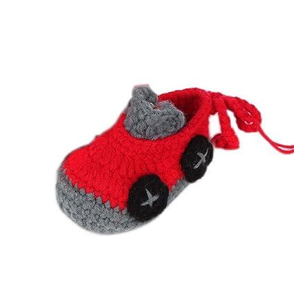 YL Baby Boy de hilo de lana de ganchillo Calcetines Zapatos 8 opciones car 24-