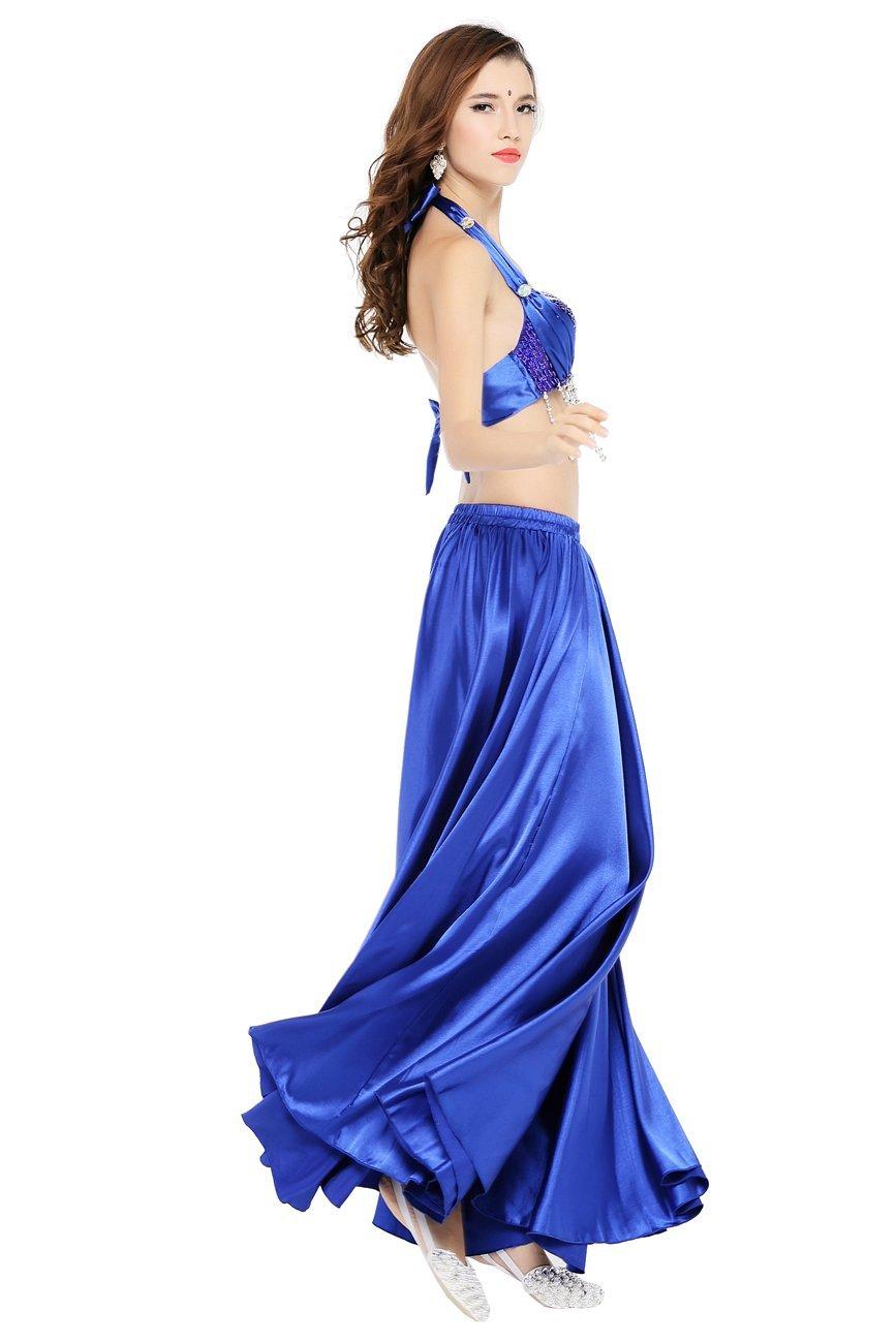 c6e409f225 Dance Fairy Danza del Ventre del Raso Gonne Cintura Elastica