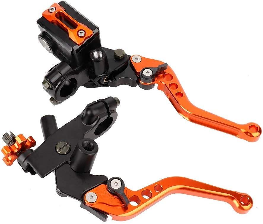 Heitune 1 Paar 7//8 Universal-Motorrad-Bremsen-Kupplungs-Geberzylinder Reservoir Hebel Orange 22 Mm
