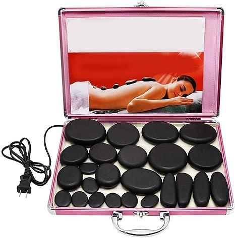 delle gambe e di tutto il corpo 14 pezzi in una valigetta per il riscaldamento Pietre laviche di massaggio benessere e relax spa un set di pietre per il massaggio del viso della schiena