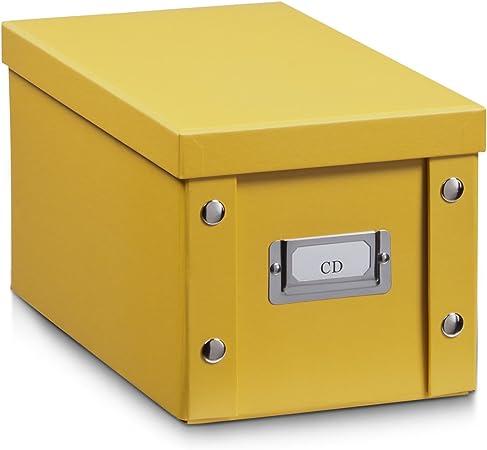 Zeller 17650 -Caja de almacenaje, cartón de 16,5 x 28 x 15 cm: Amazon.es: Hogar