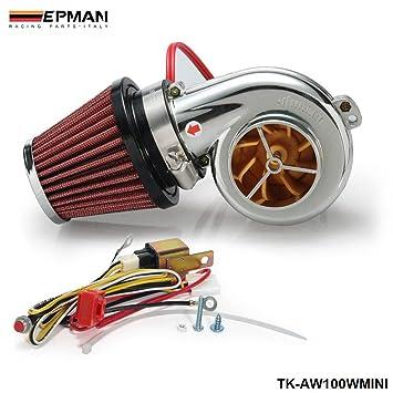 kits Mini Electric Turbo Supercharger Kit Air Filter Intake