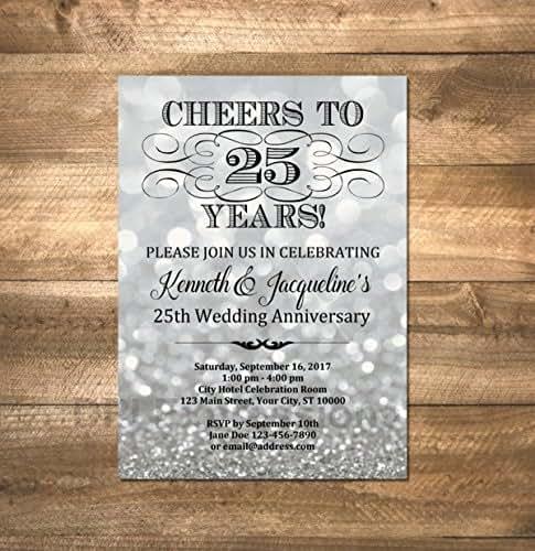 Silver Wedding Invitations Amazon
