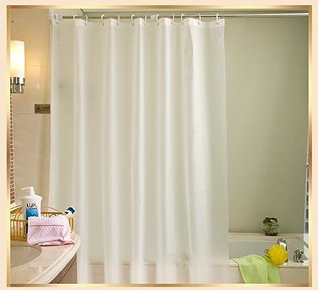 Shower Curtains Mildew Resistant Fabric Waterproof Antibacterial 72x80 Inch White