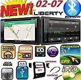2002-2007 JEEP LIBERTY Double Din DVD CD GPS Navigation Bluetooth Radio Stereo