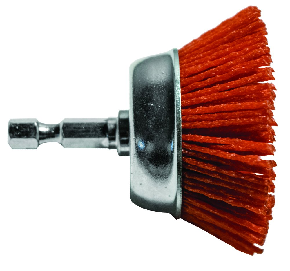Century Drill and Tool 77221 Coarse Nylon Abrasive Cup Brush, 2-Inch
