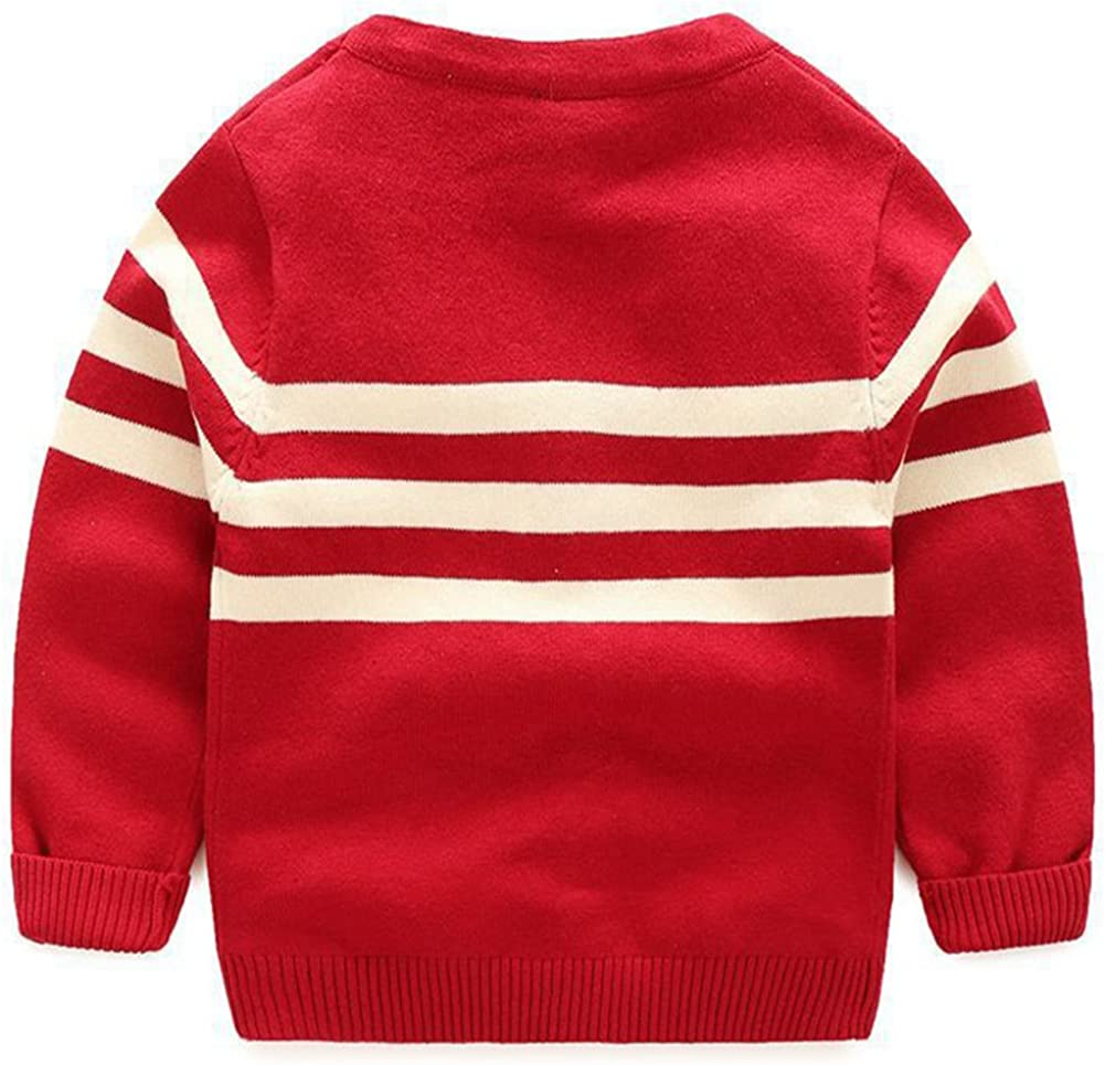 Meowstyle D-Sun Baby Toddler Boys Girls Striped Long Sleeve Sweaters Cardigan Warm Outerwear Jacket