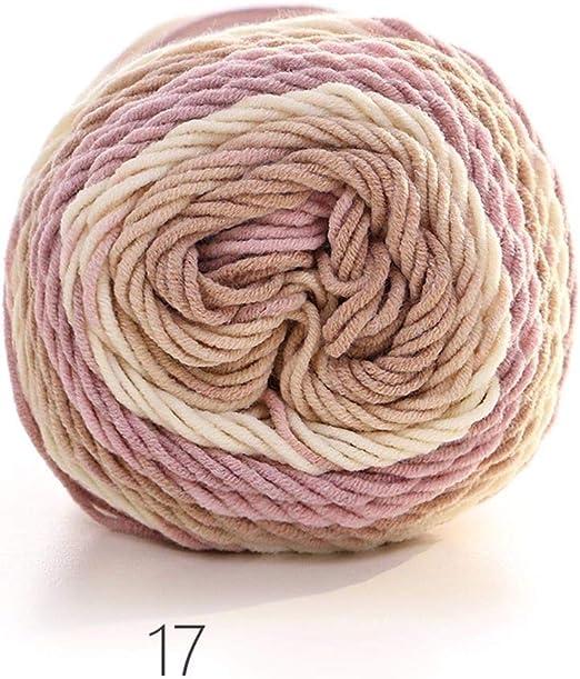 WanJiaMenShop Tejido a Mano Color algodón Hilo Suave de Arco Iris ...