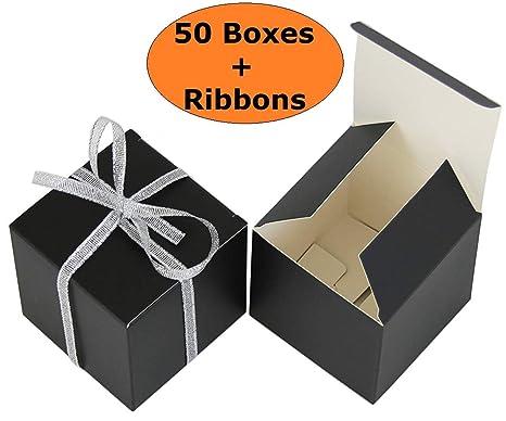 Amazon Com Threadnanny Small Gift Boxes Party Favor Box Black 2 X2